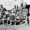 Zdjęcie, wykonane podczas wojny Niemiec przeciwko ludom Herero i Nama w Namibii w latach 1904-1908,