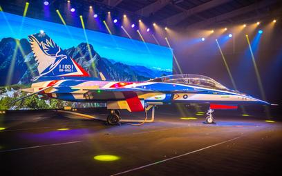 Oficjalna prezentacja prototypu samolotu szkolnego AIDC XT-5. Docelowo powstaną cztery egzemplarze p