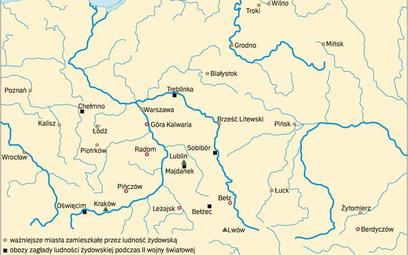 Ziemie polskie. Miejsca ważne dla Żydów