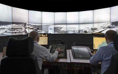 Wnętrze cyfrowej wieży kontroli firmy Saab. Fot./Saab Group.