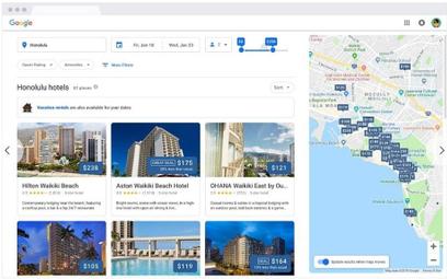 Google unowocześnia wyszukiwarkę hoteli