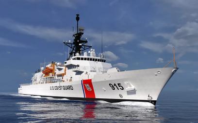 Wizja pełnomorskiego patrolowca Straży Wybrzeża typu Heritage. Rys./Eastern Shipbuilding Group.