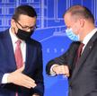Premierzy Mateusz Morawiecki iSaulius Skvernelis wczwartek wWilnie. Zadowoleni zwyników walki z