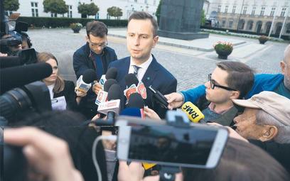 Władysław Kosiniak-Kamysz (PSL) po wyjściu ze spotkania w Pałacu Prezydenckim był zadowolony z rozmó