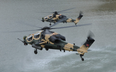 Śmigłowce bojowe TAI T129 ATAK Sił Zbrojnych Turcji. Fot./Ministerstwo Obrony Turcji.