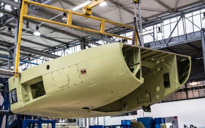 Pierwsze elementy śmigłowców AW101 dla Marynarki Wojennej. Fot./Leonardo