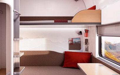 Przedziały sypialne w nowych wagonach, które dla Nightjet buduje Siemens.