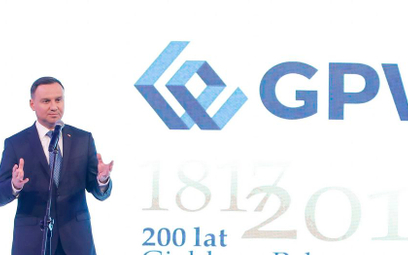 Prezydent: mam nadzieję na następne 200 lat giełdy, bez przerw