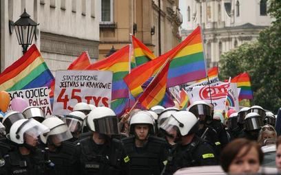 Podczas ubiegłorocznego Marszu Równości w Krakowie