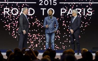Pharrell Williams (w środku) zapowiada drugi, światowy koncert Live Earth na czerwiec.
