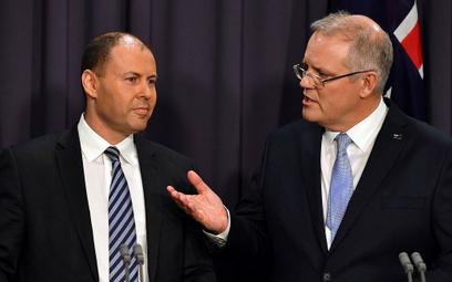 Premier Australii Scott Morrison (po prawej)