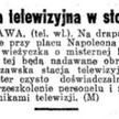 """""""Dziennik Ostrowski"""" z 10 września 1938 roku informuje o powstaniu stołecznej stacji telewizyjnej."""