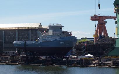 Holownik H-3 Leszko na pochylni stoczni Remontowa Shipbuilding. Fot./Łukasz Pacholski.