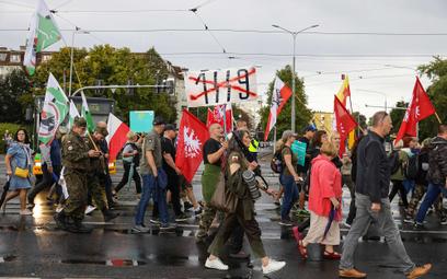 Ogólnopolski Marsz Wolności w Poznaniu. Protestujący wyrażali swój sprzeciw wobec projektu zmiany us