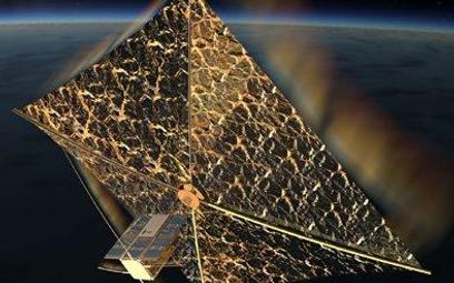 Tak ma wyglądać satelita z rozłożonym żaglem