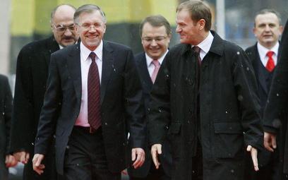 Gediminas Kirkilas, premier Litwy i Donald Tusk