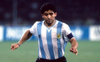 Maradona odwiedził centrum prasowe mundialu w Meksyku, ale nie obdarzył nas najmniejszym uśmiechem.