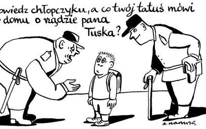 Komentarz rysunkowy. Co tatuś mówi o rządzie?