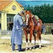 Ułani z 7. Pułku przyprowadzali na imieniny Józefa Piłsudskiego jego ulubioną Kasztankę, którą się o