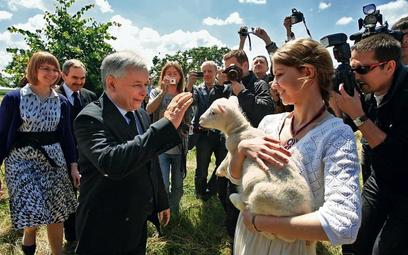 Jarosław Kaczyński w Kubalinie pod Poznaniem