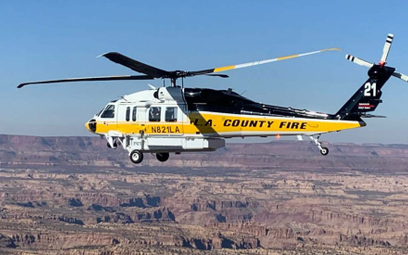 F1 Pierwszy (H-21) dostarczony Departamentowi Straży Pożarnej hrabstwa Los Angeles śmigłowiec Lockhe