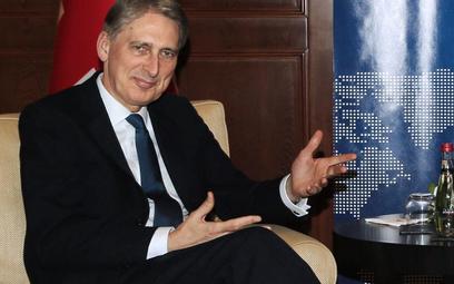 Szef brytyjskiego MSZ Phillip Hammond