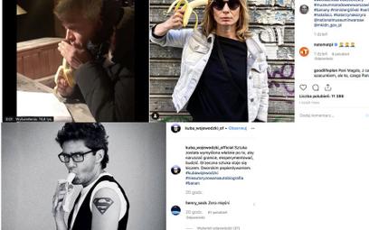 Ludzie kultury w obronie sztuki publikują zdjęcia z bananem