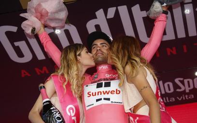 Holender Tom Dumoulin, lider Giro d'Italia