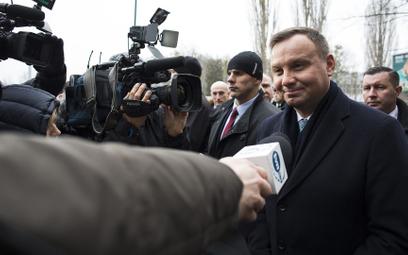 Prezydent Andrzej Duda zapewnia, że będzie stał na straży wolności słowa i swobody prowadzenia dział