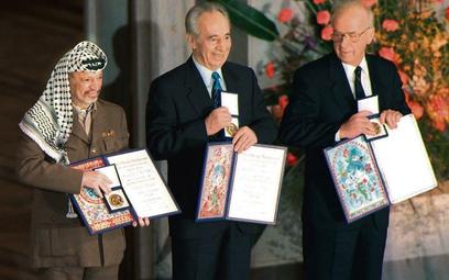 W 1994 roku Pokojową Nagrodę Nobla otrzymali Jasir Arafat, Szimon Peres i Icchak Rabin. Wynegocjowan