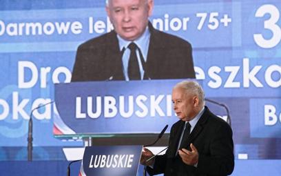"""Prezes PiS Jarosław Kaczyński podczas konwencji wojewódzkiej w Zielonej Górze 15 września mówił o """"l"""