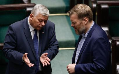 Marek Suski i Adrian Zandberg w Sejmie