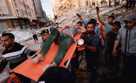 Po niedzielnym ataku lotnictwa izraelskiego w centrum Gazy