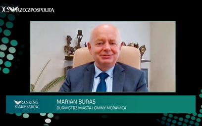 Marian Buras,burmistrz Morawicy
