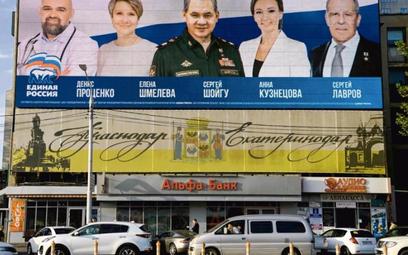 Twarze władzy – billboard Jednej Rosji w Krasnodarze, w centrum minister obrony Siergiej Szojgu, zp