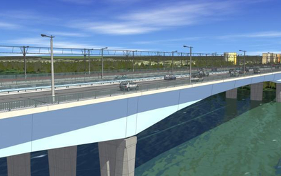 Wizualizacja mostu Północnego - jednej z głównych warszawskich inwestycji.