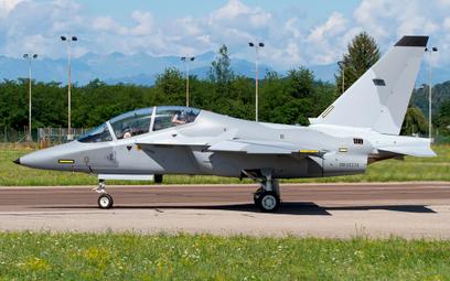 Jeden z czterech samolotów szkolno-treningowych M-346 Bielik drugiej transzy. Fot./Fabrizio Capenti.