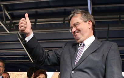 Bronisław Komorowski na wiecu w Krakowie