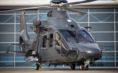 Makieta śmigłowca H160M ujawniona podczas wizyty francuskiej minister obrony w zakładach Airbusa. Fo