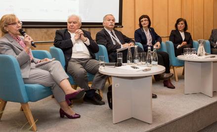 Uczestnicy panelu o szkołach zawodowych/branżowych: (od lewej) Maria Montowska, Polsko-Niemiecka Izb