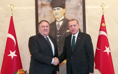 Pompeo spotkał się z Erdoganem ws. śmierci dziennikarza