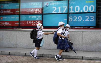 Dzieci z Japonii w drodze do szkoły