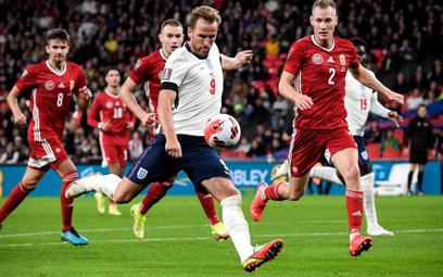 Harry Kane w meczu z Węgrami