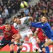 Arkadiusz Milik w meczu z Lille