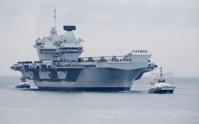 Brytyjski lotniskowiec HMS Queen Elizabeth. Fot./Bloomberg