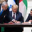 Premier Izraela Beniamin Netanjahu, prezydent USA Donald Trump i minister spraw zagranicznych Zjedno