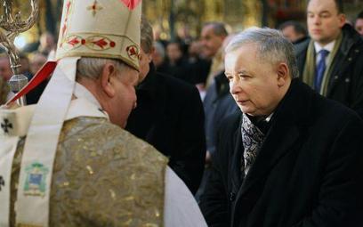 Kardynał Dziwisz i prezes Kaczyński