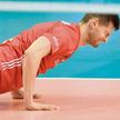 Piotr Nowakowski podczas przegranego w Katowicach 1:3 (25:17, 30:32, 16:25, 35:37) półfinałowego mec