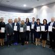 Laureaci rankingu z szefem Krajowej Administracji Skarbowej - Marianem Banasiem i zastępcą redaktora