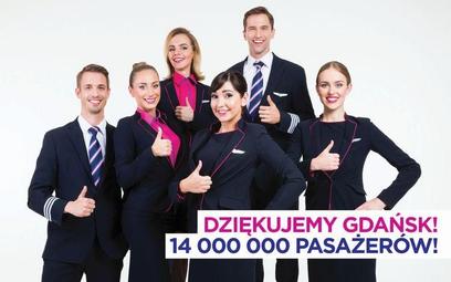 Wizz Air: 14 milionów pasażerów w Gdańsku